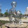 Ainsa III by Jaume Plensa - UNC Charlotte Center City Campus, adjacent to First Ward Park.