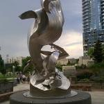 Spiral Odyssey by Richard Hunt - Romare Bearden Park uptown.